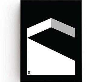 Contemporary Wall Art Print, gray, black, white, Modern art, geometric art, Minimalist art, Printable art