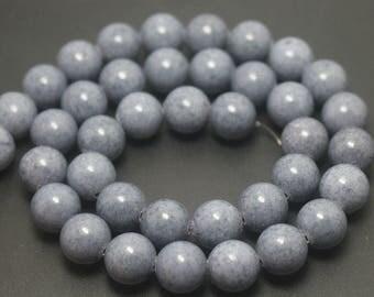 5 Strand 6mm 8mm 10mm 12mm Mountain Jade Beads Gray Round Jade Beads,16 inch per strand