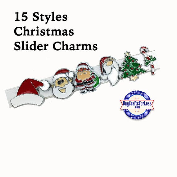CHRISTMAS SLiDE Charms, 12 Cute Styles! +FREE Shipping & Discounts*