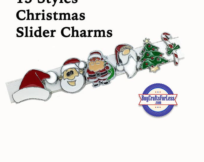 Featured listing image: CHRISTMAS 8mm SLiDE Charms, for Slider Bracelets, Collars, Key Rings -12 Cute Styles! +FREE Shipping & Discounts*