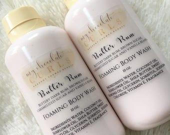 Butter Rum,Foaming Body Wash, Body Wash, Soap, Liquid Soap, Bath wash, Bath and Body, Dessert Beauty, Skin Care, Beauty, Moisturizer, Soap
