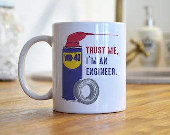 Engineer Mug, Engineer Gifts, Trust Me Im an Engineer, College Major, Gifts for Engineers, Funny Engineer Gifts, Engineer Graduation Gift