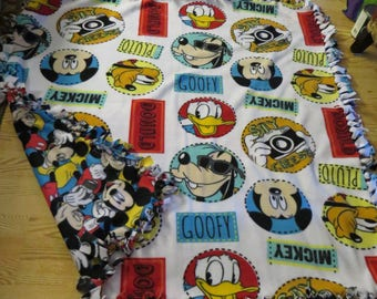 Mickey and friends tie blanket