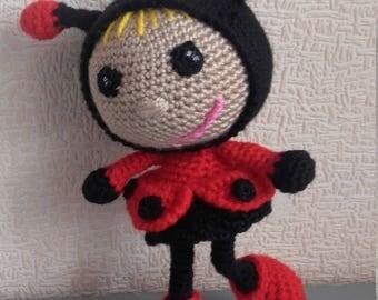 Lady Bug Crochet ladybug Amigurumi Soft toy Lady Bug doll Ladybug outfit Ladybug girl