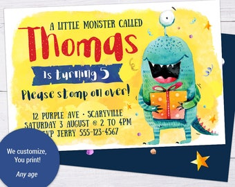 Monster Invite, Monster Invitation, Customizable Printable Monster Party Invite Monster Invite