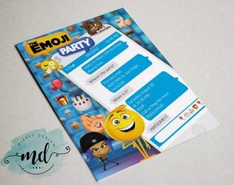 Emoji Movie Printable Invitation