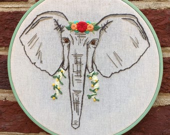 Flower Crown Elephant