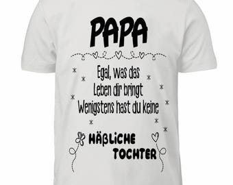 High quality children's T-shirt-mug with slogan Papa gift daughter