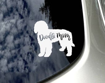 Doodle Mom Car Decal/ Doodle Love /Goldendoodle Lover Car Sticker/ Car Accessory/ Goldendoodle/Labradoodle Mom/ Doodle Sticker/ Dog Lover