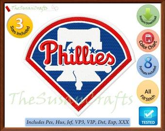Philadelphia PHILLIES EMBROIDERY DESIGNS Pes, Hus, Jef, Dst, Exp, Vp3, Xxx, Vip