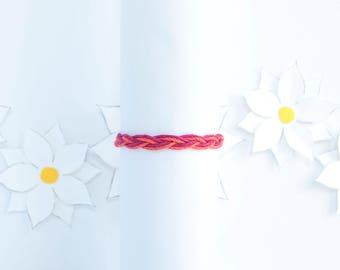 Custom Two Color Bracelet | Braided Hemp Bracelet | Stackable Bracelet | Handmade Jewelry | Adjustable Bracelet | Birthday Gift