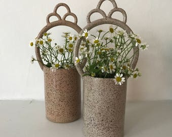 Tall Speckeled Altar Vase