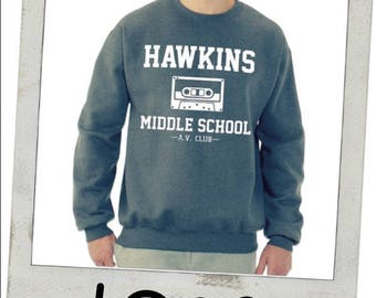 Hawkins Middle School AV Club Sweat Shirt