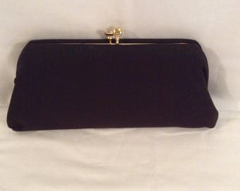 Jaray Clutch in Chocolate Brown Cloth