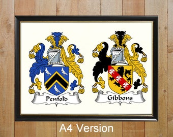Coats of arms, Double coats of arms, Family crests, Heraldry