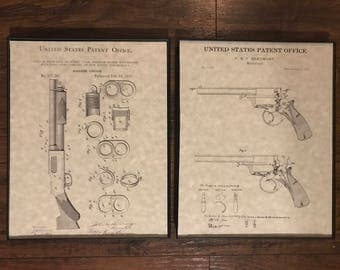 Firearm Patent Prints - 2 Pack Assortment