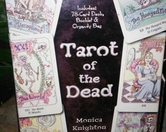 Tarot of the Dead 78 Card Deck with Instructions and Organza Bag