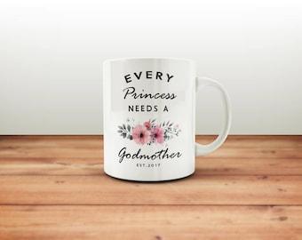 Godmother Mug / Gift for Godmother / Godmother Gift / Godmother Cup / Princess Godmother Mug
