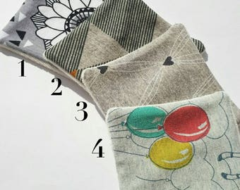 Set of 7 cotton washable organic cotton and bamboo pattern