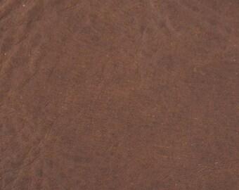 Coupon of leather dark brown genuine cowhide
