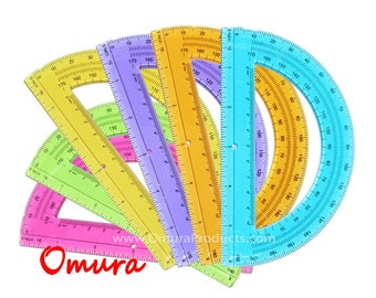 PROTRACTOR 6 inch, Assorted Colors