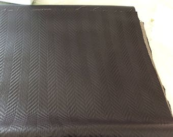 Brown faux leather dark width 130 cm