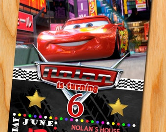 Cars Birthday, Disney Cars 2 Invitation, Cars 3 Invitation, Disney Cars 3 Birthday Invitation, Cars Party, MCQueen, Disney Cars