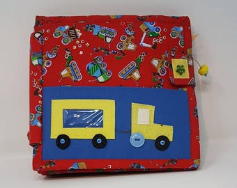 A Heavy Vehicles Quiet Book, play Book, busy book, Montessori Toy, sensory toy,  educational toy (from 2 years old)