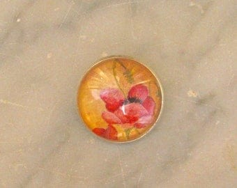 POPPY brooch, hand painted