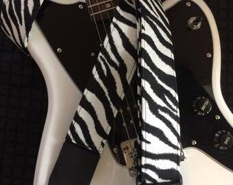 Cool zebra print guitar strap