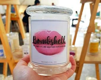 Bombshell Soy Candle Australia Fig Melon Scented Fragranced Funny Novelty Kardashian
