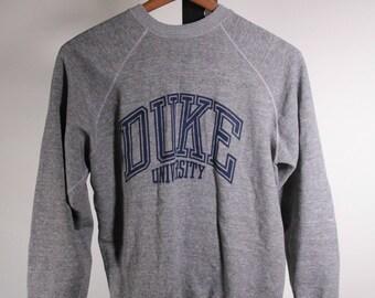Duke University vintage sweatshirt made in USA