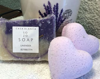 Lavender  shea butter sosp and bath bomb