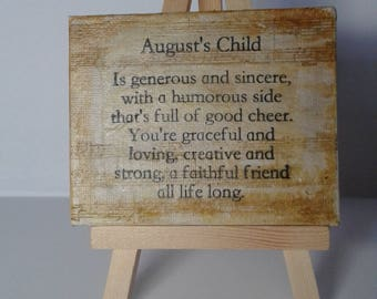 August Child Mini Mixed Media Canvas and Easel