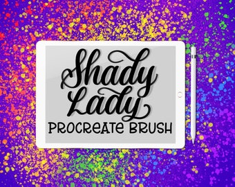 Shady Lady lettering brush for Procreate App