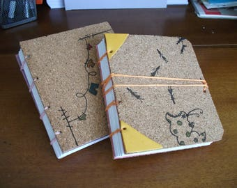 Hand-bound and illustrated blank notebook