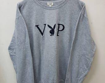 Vintage Playboy Sweatshirts Jumper Pullover Embroidery Logo Nice Design