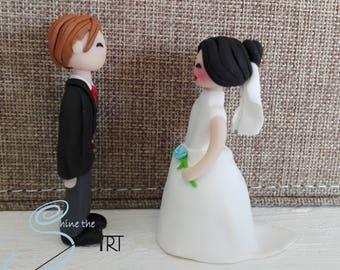 Handmade Wedding dolls  in polymer clay
