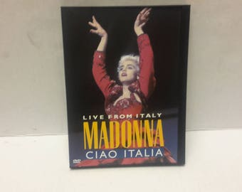 Madonna live from Italy ciao italian dvd 1988