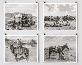 Cowboy Photos, Black and White Cowboy Photography, Farmhouse Modern, Country Wall Decor, Cowboy Decor, Farmhouse Wall Decor
