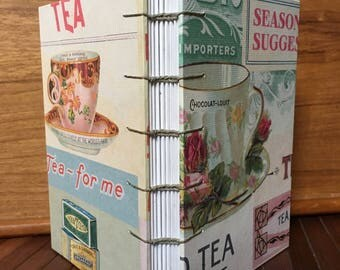 """Tea Time Blank Journal, 4x6"""", 80 pages"""