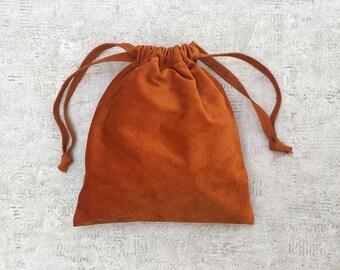 smallbag suede rust - unique - leather