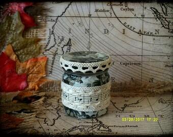 Hand Decorated Secret Stash Jar Cannabis/Marijuana/Weed/Herb/Pills...Wedding Favour 45ml