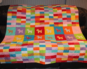 Handmade Quilt 60x75 Multicolored