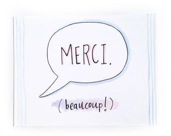 Merci Beaucoup Thank You Card