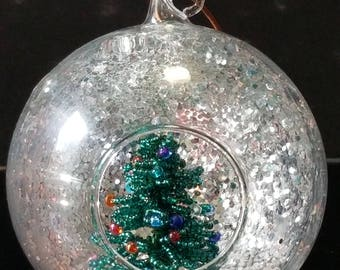 Green and Silver Ornament