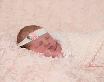 Moth Tieback Newborn headband Pink red Newborn Photo Prop Newborn tieback baby headband baby tieback newborn moth tieback flower tieback RTS