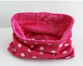 Snood baby hot pink