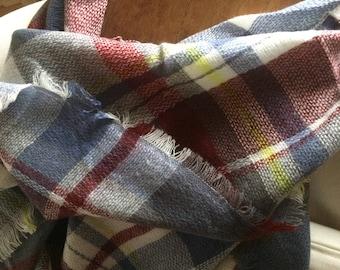 SALE!!!!Most popular selling,Plaid Blanket Scarf,triangle, Winter scarf,Cotton, Plaid Scarf, Tartan scarf, Trendy