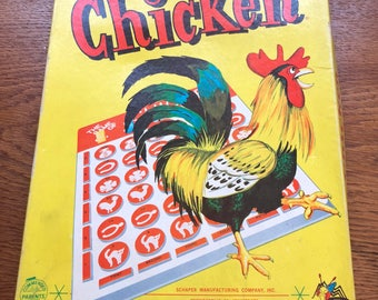 Vintage 1957 the Game of Chicken board game Schaper Mfg company Minneapolis MN